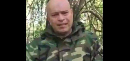 Militar sublevado anuncia las nuevas acciones |Captura de video