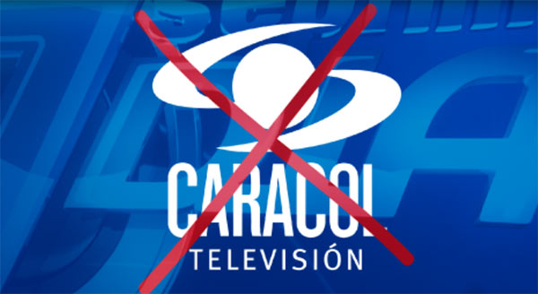 Caracol TV fue sacada del aire por Conatel   imagen referencial