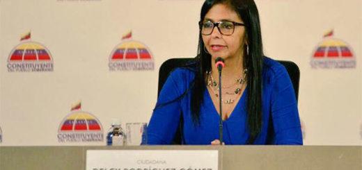Delcy Rodríguez, Presidenta de la ANC | Foto: @ANC_Ve