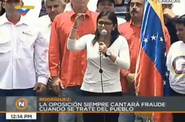 Delcy Rodríguez   Captura de video