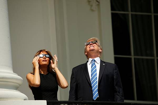 Donald Trump junto a su esposa  Foto: Reuters