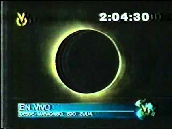 Eclipse total de sol en el 1998 |Captura de video