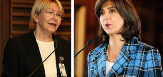 Luisa Ortega Díaz, Fiscal General de Venezuela /María Ángela Holguín, canciller de Colombia |Composición: Notitotal