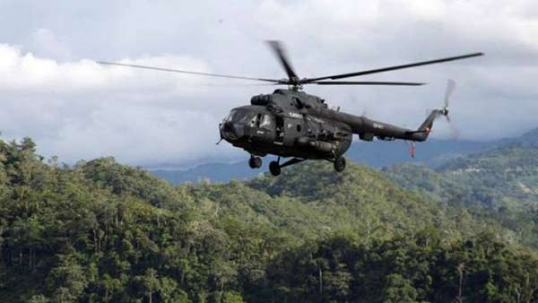 Helicóptero venezolano sobrevoló Colombia  Foto referencial