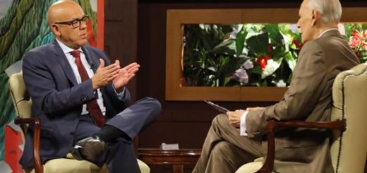 Jorge Rodríguez en entrevista con José Vicente Hoy |Foto cortesía
