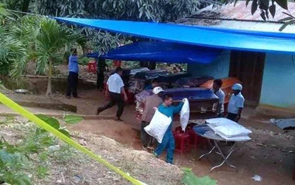 Tumbas de los masacrados en Amazonas |Foto: Nota de prensa