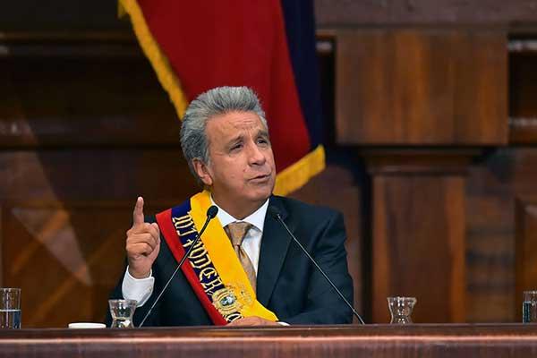 Presidente de Ecuador, Lenín Moreno | Foto: AFP