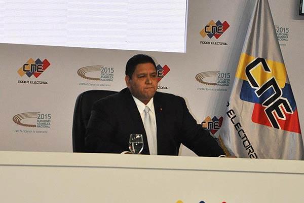 Luis Emilio Rondón, rector del CNE  Foto: La Patilla