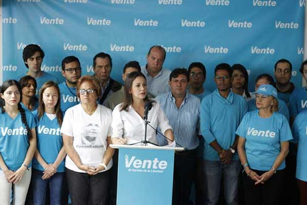 María Corina Machado   Foto: Prensa Vente Venezuela
