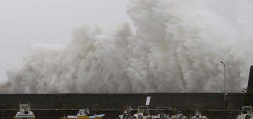 Así se vio el impacto del Tinfón en Hong Kong, Macao y China |Foto: @informativost5