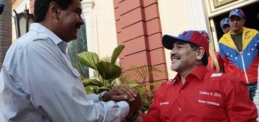 Maradona envía mensaje de apoyo al presidente Nicolás Maduro | Foto cortesía