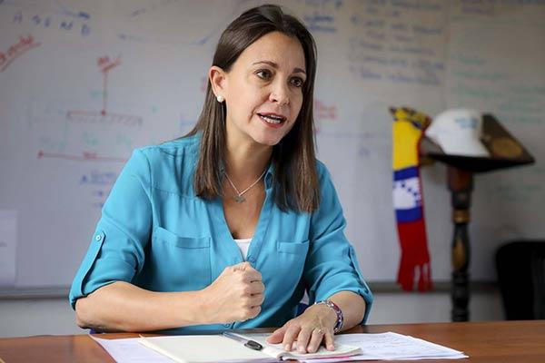 """Resultado de imagen para Maria Corina Machado: """"Soy Venezuela no llama a la abstención"""