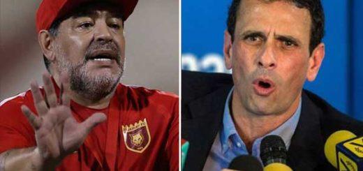 Diego Armando Maradona / Henrique Capriles | Composición: NotiTotal