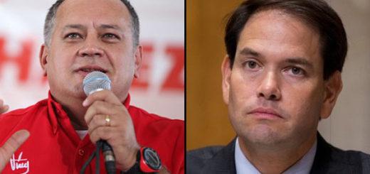 Diosdado Cabello y Marco Rubio | Composición Notitotal
