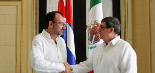 Canciller de México en Cuba |Foto cortesía