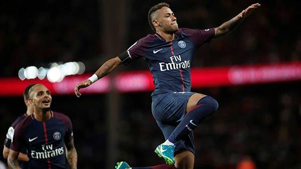 Neymar juega para el París Saint Germain  Foto cortesía