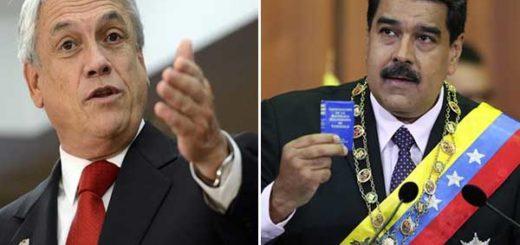 """Sebastián Piñera calificó a Maduro de """"dictador""""   Composición: NotiTotal"""