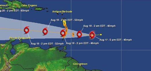 Tormenta tropical Harvey continúa su avance por el este del Caribe | Foto: meteorologiard.org