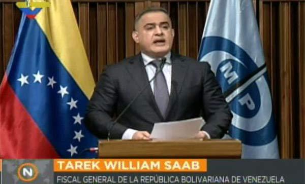 Tarek William Saab, Fiscal General designado por la ANC | Foto: Captura de video
