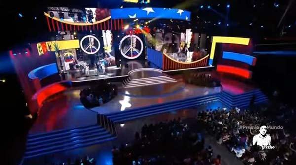 Artistas rindieron homenaje a Venezuela durante premios Tu Mundo | Foto: Captura de video