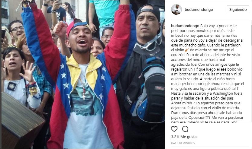 Budú cargó contra Wuilly Arteaga | Créditos: Instagram