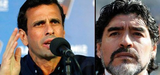 Henrique Capriles responde a Diego Maradona | composición Notitotal