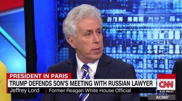 Comentarista de CNN, Jeffrey Lord | imagen referencial