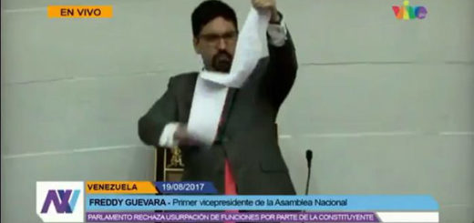 Freddy Guevara rompe decreto de la ANC | Foto: captura de video