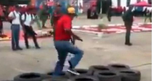 Civil en ejercicio Militar   Foto: Captura de video