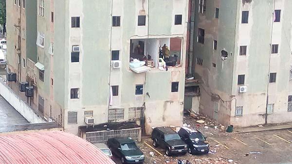 Explosión de bombona en apartamento de Valencia | Foto: Twitter