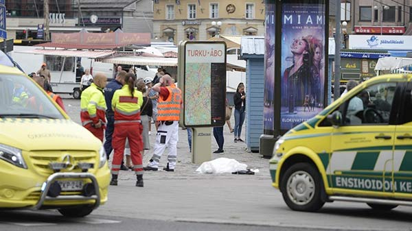 Ataque en la Turk, Finlandia | Foto: Twitter