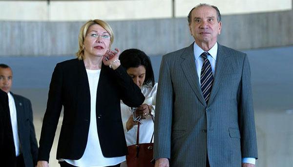 Canciller y Brasil y Luisa Ortega Díaz   Foto: EFE