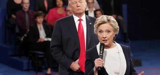 Clinton revela detalles de incómodo momento que vivió con Trump en la campaña presidencial | Foto: AP