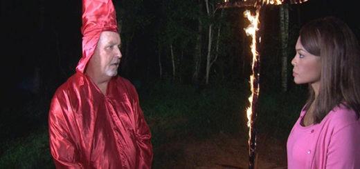 Líder del KKK y presentadora colombiana de Univisión | Foto: Univisión