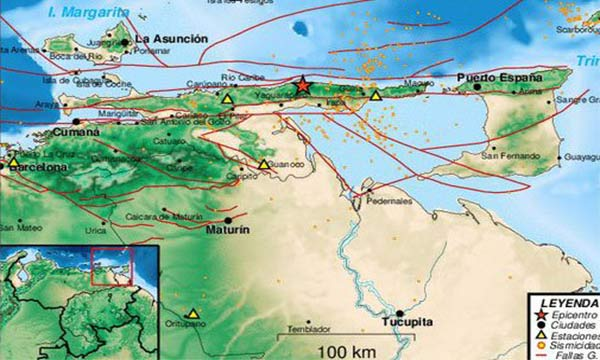 Sismo de 4.9 sacudió Irapa, estado Sucre | Foto: Twitter
