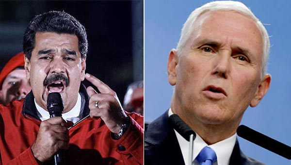 Nicolás Maduro y Mike Pence | Composición Notitotal