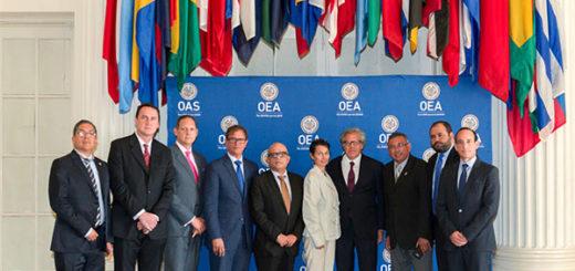 Magistrados del TSJ, designados por la AN junto al secretario de la OEA, Luis Almagro |Foto: EFE