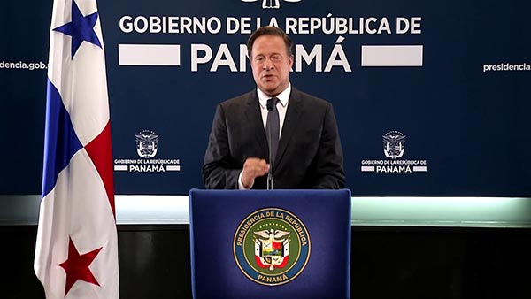 Presidente de Panamá, Juan Carlos Varela | Foto: Captura de video