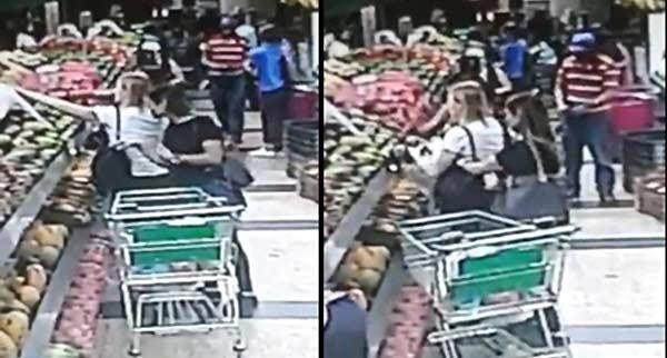 Robo en supermercado | Capturas de video