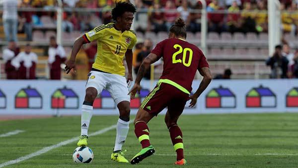 Venezuela frena camino triunfal de Colombia hacia Rusia-2018 tras empate 0-0 | Foto: Cortesía