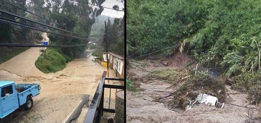 Lluvias en Aragua han provocado desbordamiento de ríos y quebradas |Composición: Notitotal
