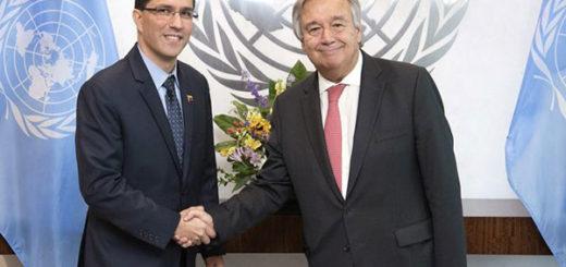 Jorge Arreaza sostuvo encuentro con Secretario General de la ONU | Foto: @Mppre