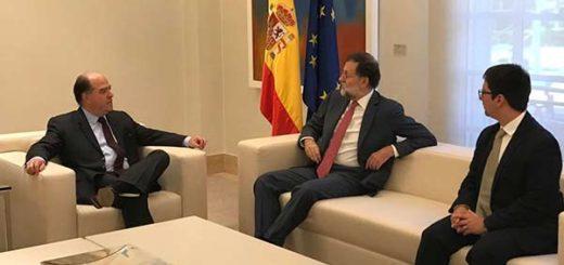 Mariano Rajoy en compañía de Julio Borges y Freddy Guevara |Foto: Twitter