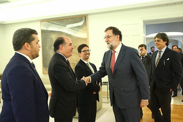Visita de diputados opositores tensa más la relación de Venezuela y Europa   Foto: @marianorajoy