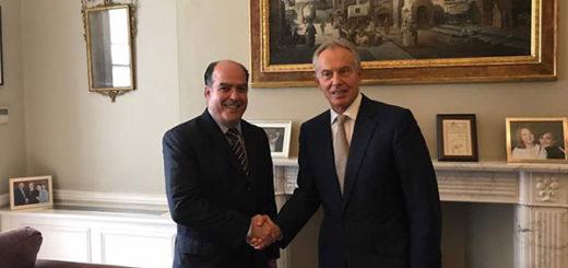 Julio Borges se reunió con el ex primer ministro británico, Tony Blair | Foto: vía @AsambleaVE