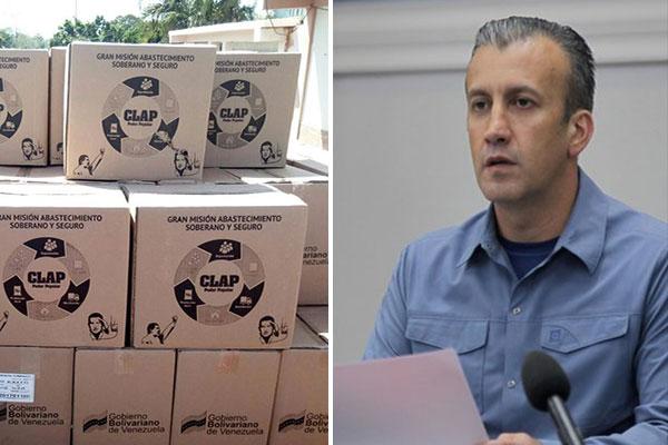El Aissami asegura que casi diez millones de cajas Clap fueron entregadas en agosto | Composición: NotiTotal