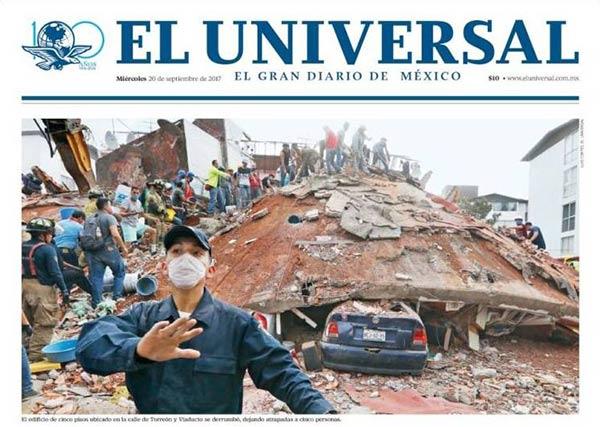 Portada de diario en México |Foto: Kiosko.net