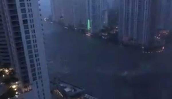 Miami se inunda tras el paso del huracán Irma  Captura de video
