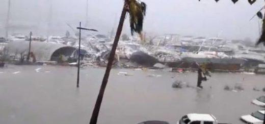 Huracán Irma a su paso por San Martín |Captura de video