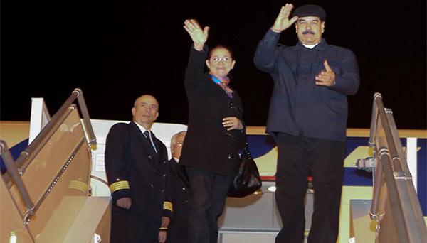 Maduro regresó a Venezuela luego de gira internacional | Foto: Twitter